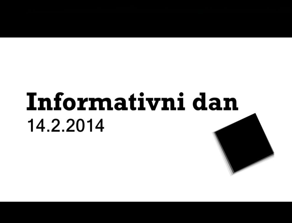 Informativni dan 2014
